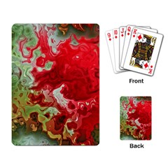 Abstract Stain Red Playing Cards Single Design (rectangle)