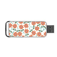 Vector Flower Floral Portable Usb Flash (one Side)