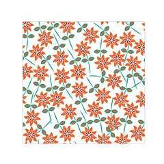 Vector Flower Floral Small Satin Scarf (square)