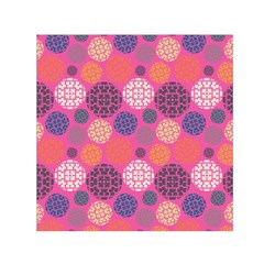Abstract Seamless Pattern Graphic Pink Small Satin Scarf (square)