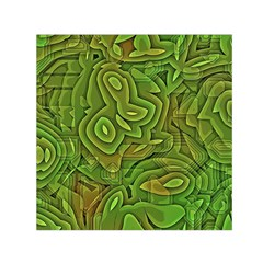 Background Abstract Green Small Satin Scarf (square)