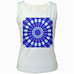 Pattern Background Color Women s White Tank Top