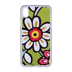 Flowers Fabrics Floral Iphone Xr Seamless Case (white)