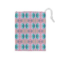 Seamless Wallpaper Pattern Free Picture Drawstring Pouch (medium)