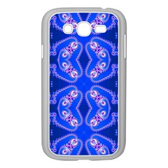 Seamless Fractal Blue Samsung Galaxy Grand Duos I9082 Case (white)