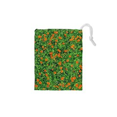 Carnations Flowers Seamless Drawstring Pouch (xs)