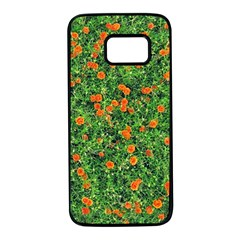 Carnations Flowers Seamless Samsung Galaxy S7 Black Seamless Case