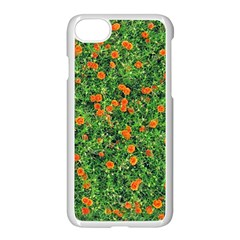 Carnations Flowers Seamless Iphone 8 Seamless Case (white)