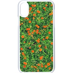 Carnations Flowers Seamless Iphone X Seamless Case (white)