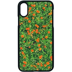 Carnations Flowers Seamless Iphone X Seamless Case (black)