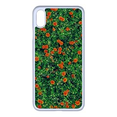 Carnations Flowers Seamless Iphone Xs Max Seamless Case (white)