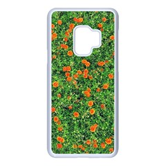 Carnations Flowers Seamless Samsung Galaxy S9 Seamless Case(white)