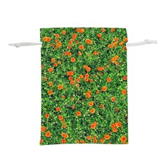 Carnations Flowers Seamless Lightweight Drawstring Pouch (s)