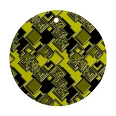 Seamless Pattern Background Ornament (round)