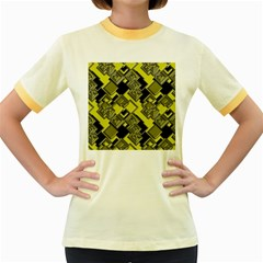 Seamless Pattern Background Women s Fitted Ringer T Shirt