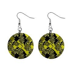 Seamless Pattern Background Mini Button Earrings