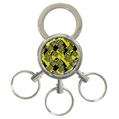 Seamless Pattern Background 3 Ring Key Chain