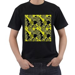 Seamless Pattern Background Men s T Shirt (black) (two Sided)