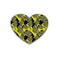 Seamless Pattern Background Heart Coaster (4 Pack)