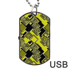 Seamless Pattern Background Dog Tag Usb Flash (two Sides)