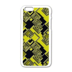 Seamless Pattern Background Iphone 6/6s White Enamel Case