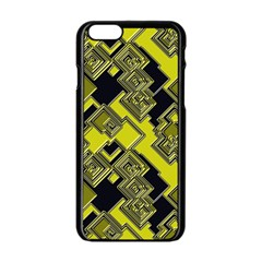 Seamless Pattern Background Iphone 6/6s Black Enamel Case