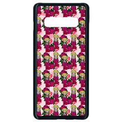 Thurs Pattern  Pink Samsung Galaxy S10 Plus Seamless Case (black)