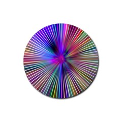 Rays Colorful Laser Ray Light Rubber Coaster (round)