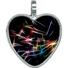 Lights Star Sky Graphic Night Heart Necklace