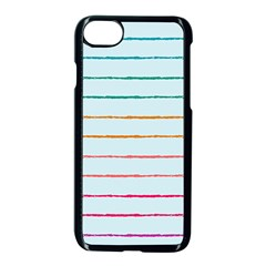 Crayon Background School Paper Iphone 8 Seamless Case (black)