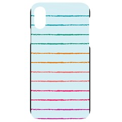 Crayon Background School Paper Iphone Xr Black Uv Print Case
