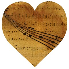 Background Music Wooden Puzzle Heart