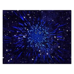 Star Universe Space Starry Sky Rectangular Jigsaw Puzzl by Alisyart