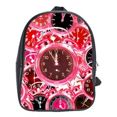 Clock Face 4 School Bag (large) by impacteesstreetwearten