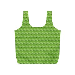 Green Pattern Ornate Background Full Print Recycle Bag (s)