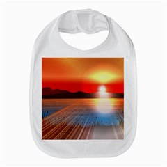 Sunset Water River Sea Sunrays Bib
