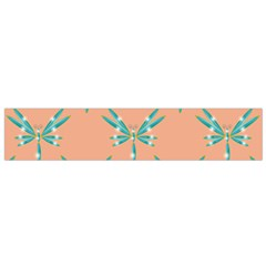 Turquoise Dragonfly Insect Paper Small Flano Scarf