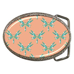 Turquoise Dragonfly Insect Paper Belt Buckles
