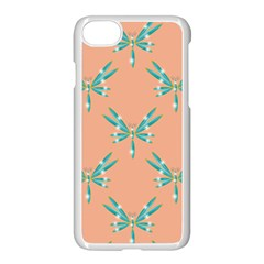 Turquoise Dragonfly Insect Paper Iphone 7 Seamless Case (white)