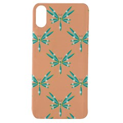 Turquoise Dragonfly Insect Paper Apple Iphone Xs Tpu Uv Case