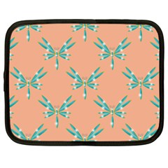 Turquoise Dragonfly Insect Paper Netbook Case (xxl)