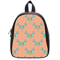 Turquoise Dragonfly Insect Paper School Bag (small)
