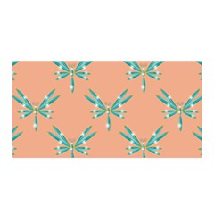 Turquoise Dragonfly Insect Paper Satin Wrap