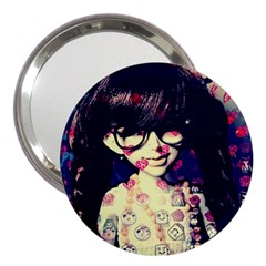 Retro Girl 3  Handbag Mirrors by snowwhitegirl