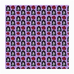 Girl Flower Pattern Lilac Medium Glasses Cloth (2 Sides) by snowwhitegirl