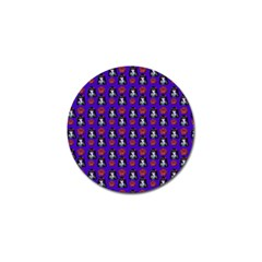 Girl Flower Pattern Royal Blue Golf Ball Marker (10 Pack)