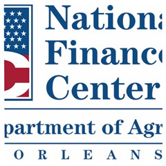 Logo Of Usda National Finance Center Wooden Puzzle Square