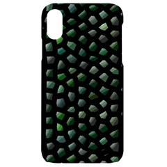 Abstract Green Design Scales Iphone Xr Black Uv Print Case