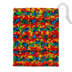 Abstract 42 Drawstring Pouch (xxxl) by ArtworkByPatrick