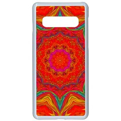 Background Pattern Surface Texture Samsung Galaxy S10 Seamless Case(white) by Wegoenart